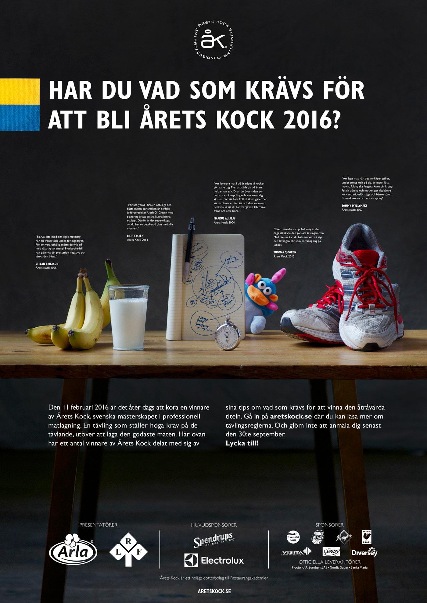 Inbjudan Årets Kock 2016