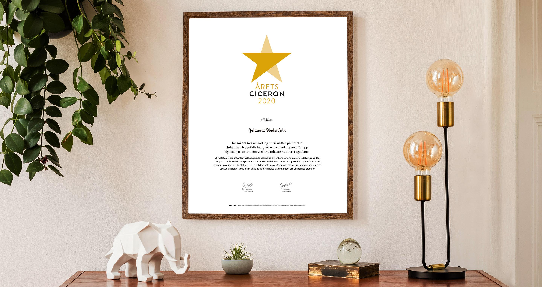 Årets ciceron - förslag på diplom