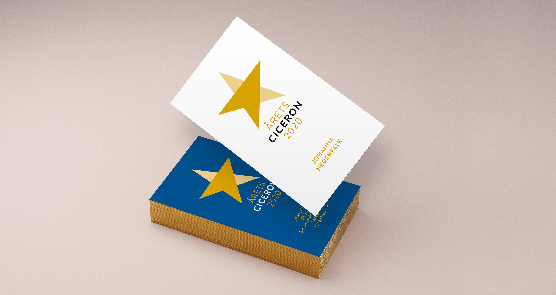 Årets ciceron - förslag på visitkort
